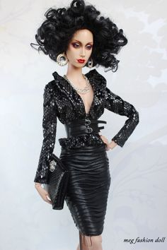 https://flic.kr/p/pyLN5s | New Sybarite FR16 ''GLAM BLACK'' | www.ebay.com/itm/Meg-outfit-for-Sybarite-FR16-Fashion-Roy...?
