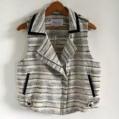 BCBGeneration Tops - BCBGeneration Metallic Tweed Moto Vest