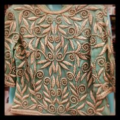 antique mall = museum.  mermaid top w/ pearl embroidery.