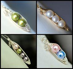 custom pea pod necklaces -- muyinjewelry.com