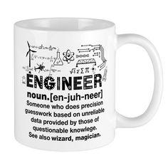 Engineer Funny Definition 11 oz Ceramic Mug Engineer Funny Definition Mugs by - CafePress Funny Coffee Mugs, Funny Mugs, Engineer Mug, Engineering Quotes, Funny Definition, Christmas Mugs, Christmas 2016, Joke Gifts, Diy Crafts For Gifts