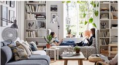cozy small living room decor ideas for your apartment 26 ~ mantulgan.me : cozy small living room decor ideas for your apartment 26 ~ mantulgan. Ikea Billy Bookcase White, Billy Ikea, Billy Bookcases, Ikea Living Room, Small Apartment Living, Living Room Bookshelves, Living Rooms, Small Apartment Interior Design, Room Interior