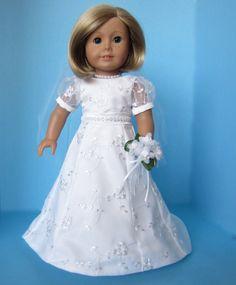 American Girl Doll: Elsa-like Bridal Gown by SewSpecialByBarb