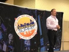 Jason M. Silverman speaking at the Dance Teacher Summit