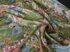 """Купить Шифон Dolce&Gabbana """"Таинственный лес"""" 2 цвета - шелк, блузка, ткань, ткани"""