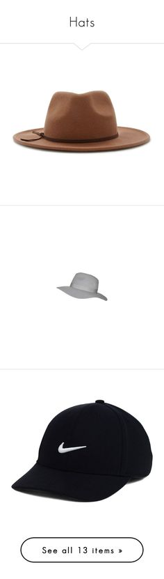 """Hats"" by sweeney-1 ❤ liked on Polyvore featuring accessories, hats, wool fedora, woolen hat, forever 21 hats, fedora hat, forever 21, grey hat, gray hat and wide brim fedora"