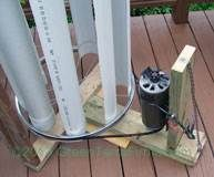 DIY~VAWindTurbine with Treadmill and V Belt
