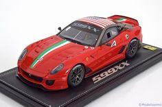 Ferrari 599 XX, Homestead Miami 2010, No.4. BBR, 1/18, No.P1818, Limited Edition 200 pcs. 280€
