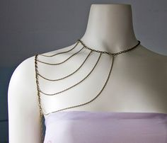 Bronze Shoulder Harness Necklace - No. 4  by Objects and Subjects