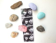 Beach Rock Magnets  •  Free tutorial with pictures on how to make a magnet in under 20 minutes