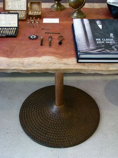 Large Industrial Cast Iron Table Bases