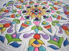 Mandala tutorial --using crayon, heat set