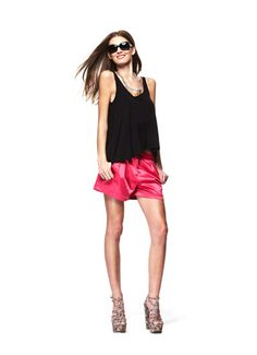 #FashionStar Episode 3: Ross Bennett's Cuffed Pleated Satin Shorts for Macy's