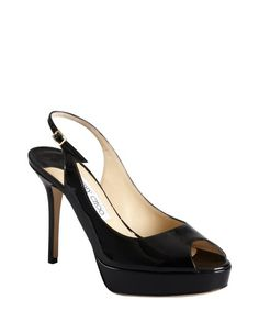 Replica Jimmy Choo black patent leather peep toe slingback 'Moon' pumps 5-1710 $202,Cheap Sergio Rossi,Sergio Rossi Shoes Online 2015 Save up to 80% Off with Free Shipping!--SergioRossiAllShoes.com