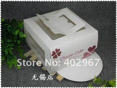 16 * 16 * 9.5 см ну вечеринку еда упаковка кекс коробки печенья торт коробки пользу печенья 25 шт./лот