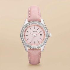 FOSSIL® Watch Collections Stella:Women Stella Mini Leather Watch - Pink ES3024