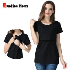 fbed1f78e85 Emotion Moms pregnancy Maternity clothes Maternity Top Nursing top nursing  clothing Breastfeeding T-shirt for pregnant women Top