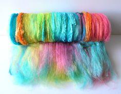 Art Batt - Bahamas -Superfine Merino, Mulberry Silk, Firestar, BFL, Angelina