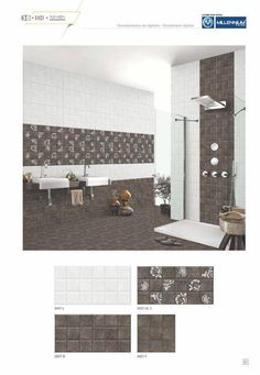 Millennium Tiles 300x600mm (12x24) Digital #Ceramic Wall #Tiles High Definition Satin Finish Series   - 3437_L   - 3437_HL1   - 3437_D   - 3437_F   - Six Colour Technology: This six colour digital colour printing process uses CMYK inks plus a lighter shade of cyan (LC) and magenta (LM) to create more realistic tiles.   - 3D Technology: Our physical environment is three-dimensional and we see the world in a #3D way, you will have a feeling of depth with our 3D visual experience.