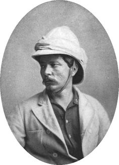 """Henry Morton Stanley was the first European to explore the middle and lower Congo river, in He is also famous for searching for and finding lost explorer David Livingstone and uttering the famous phrase """"Dr. Livingstone, I presume? Out Of Africa, East Africa, Scouts, Pith Helmet, David Livingstone, Vintage Safari, History Page, Charles Manson, Victoria Falls"""