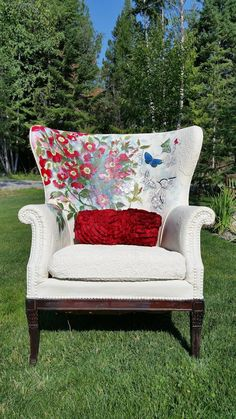 painted chairs, painted upholstery