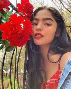 Image may contain: 1 person, flower, plant, outdoor and nature Filipina Girls, Filipina Actress, Filipina Beauty, Selfies, Estilo Kylie Jenner, Ideal Girl, Portrait Photography Poses, Uzzlang Girl, Teen Actresses