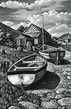 """Beached Boats, Penberth,"" Howard Phipps"