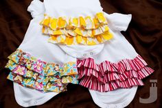 Ruffle Bum Onesies. And maybe...one day....I try to make these too!