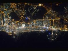 Dubai at Night City lights of Dubai, United Arab Emirates, are featured in this image taken by the Expedition 30 crew aboard the International Space Station Dubai City, Dubai Uae, Dubai Golf, Nasa, Abou Dabi, Earth At Night, City Lights At Night, Night City, Space Photos
