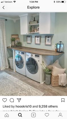 – The post appeared first on Stauraum ideen. – The post appeared first on Stauraum ideen. Laundry Room Organization, Laundry Room Design, Home Renovation, Home Remodeling, Laundy Room, Farmhouse Laundry Room, Farmhouse Decor, Laundry Table, Laundry Decor
