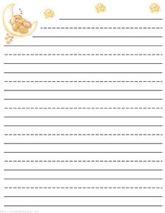 Lined stationery for kids
