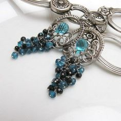 Erevan - silver wire wrapped earrings with gemstones - product images  of