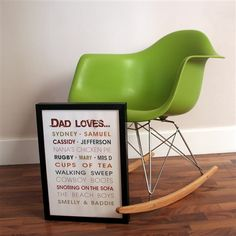 Eames Style RAR Rocking Chair - Green - £75.00