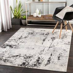 Black Rug, Indoor Rugs, Grey Rugs, Pattern Blocks, Online Home Decor Stores, Accent Furniture, Rugs In Living Room, Abstract Pattern, Colorful Rugs
