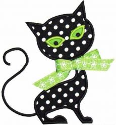 Cat Applique Design Sizes include: hoop x hoop x hoop x *This design also comes with a zig zag finish in each size! Applique Templates, Applique Embroidery Designs, Machine Embroidery Applique, Applique Patterns, Applique Quilts, Quilt Patterns, Halloween Applique Designs, Cat Quilt, Sewing Appliques