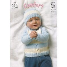 Cardigan, Sweaters, Hat and Mittens in King Cole Comfort DK (3011) £2.99