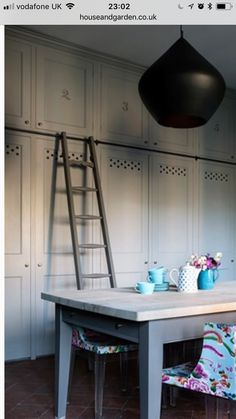 I love these cupboards for the larder and the boot room