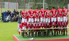 Players of FC Bayern Munich pose for photos during the team presentation on August 10, 2016 in Munich, Germany.