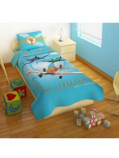 Bedsheets Set Dusty Planes 2 flat sheets 170X260 + pillowcase