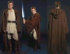 Star Wars and The Power of Costume - Obi-Wan Kenobi Costume Jedi, Costume Star Wars, Jedi Cosplay, Star Wars Film, Rey Star Wars, Robe Jedi, Jedi Cloak, Jedi Tunic, Obi Wan