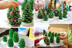 10 crafts and Christmas experiences – Page 6 – Activities – Celebrations – … Holiday Crafts For Kids, Diy For Kids, Christmas Crafts, Christmas Decorations, Holiday Decor, Childrens Christmas, Pine Cone Crafts, Theme Noel, Xmas Ornaments