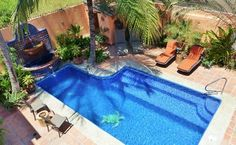 Tres Palmas Casitas in Bucerias from VRBO One and two bedroom units available. Heated Pool, Two Bedroom, Security Camera, Swimming Pools, The Unit, Patio, Beach, Outdoor Decor, Palms