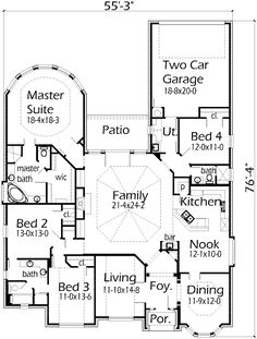 House Plans by Korel Home DesignsHouse Plans by Korel Home Designs   Bedroom to make into  . Modern Home Floor Plans Designs. Home Design Ideas