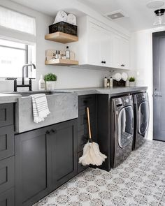 House Tour (@homebunch) • Instagram photos and videos Farmhouse Laundry Room, Laundry Rooms, Laundry Area, Laundry Room Inspiration, Fireplace Remodel, Laundry Room Design, Concrete Countertops, Kitchen Countertops, Orange County
