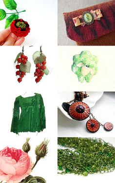 Red & green - Etsy Treasury by TarasUSSR --Pinned with TreasuryPin.com