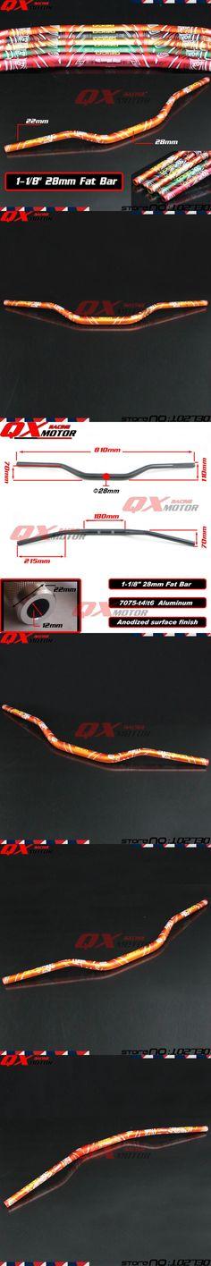 "Motorcycle 1 1/8"" 28mm Handlebars Handle Tubes Fat Bars For KTM SX SXF EXC XC EXC-F EXCF Dirt Bike MX Enduro Supermoto Off Road"