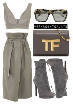 """Untitled #1587"" by stylebyteajaye ❤ liked on Polyvore featuring TIBI, Topshop, Tom Ford, STELLA McCARTNEY and Prada"