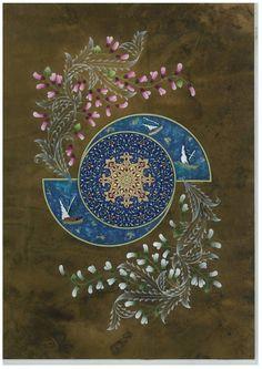 Tezhip ( Altın, Guaj 45x60 cm ) -Emine Süsoy