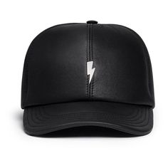 bcb10ed6ad3 Neil Barrett Thunderbolt bonded leather baseball cap (2