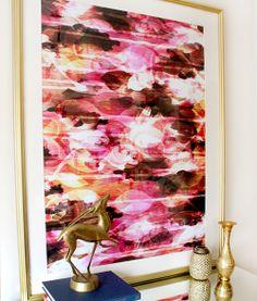 """""""Electric Garden in Pink"""" art print by COZAMIA  #art, #decor, #cozamia"""